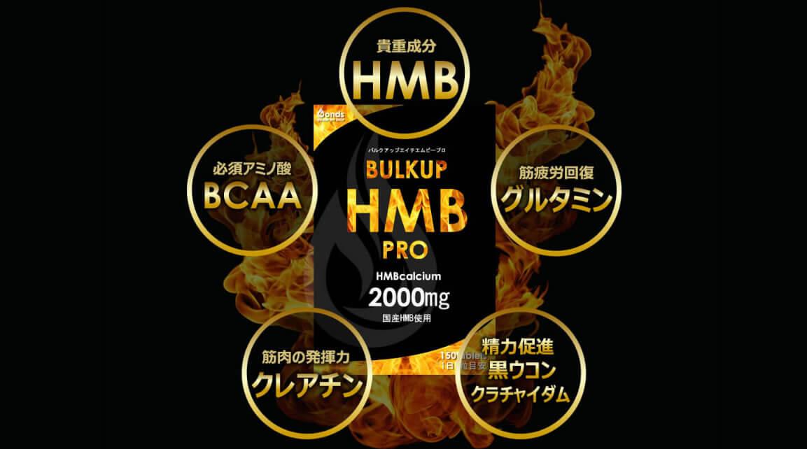 バルクアップHMBプロの含有成分